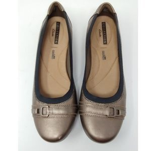 Clarks Collection Cushion Champagne Flats 8M